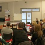 Sesión ante el claustro de profesores del Liceo Francés de Castilla y León en Laguna de Duero, Valladolid